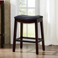 Madison Park Nomad Saddle Bar Stool in Navy