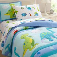 Olive Kids Dinosaur Land Bedding 2-Piece Twin Comforter Set in Blue