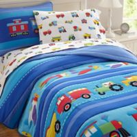 Olive Kids Trains, Planes & Trucks 3-Piece Full Comforter Set in Blue
