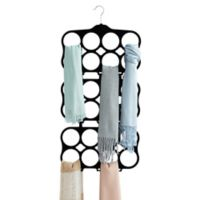 Real Simple® Flocked Cascading Scarf Hanger in Black