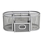 .Org Oval Wire Mesh Desk Organizer in Silver