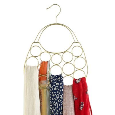 Purse Shaped Scarf Hanger In Gold