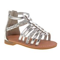 Laura Ashley® Size 3-6M Gladiator Sandal in Silver