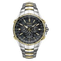 Seiko Men's 44.5mm Radio Sync Solar Chronograph Watch in Stainless Steel