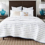 Coastal Living® Sand Script Full/Queen Quilt Set in Blue