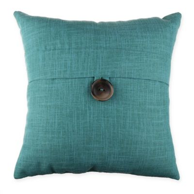 Juliana Button 20 Inch Square Throw Pillow In Green