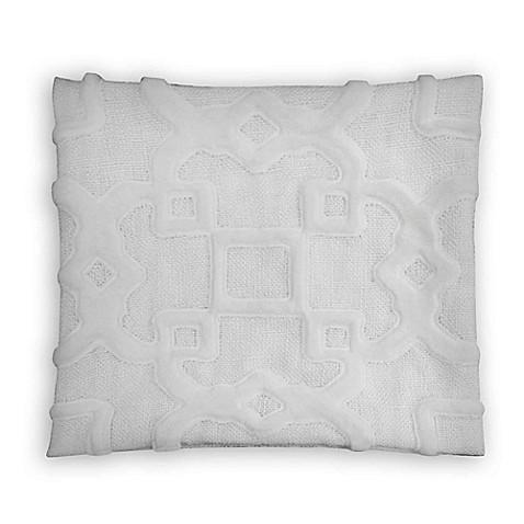 Trellis Square Throw Pillow in White - Bed Bath & Beyond