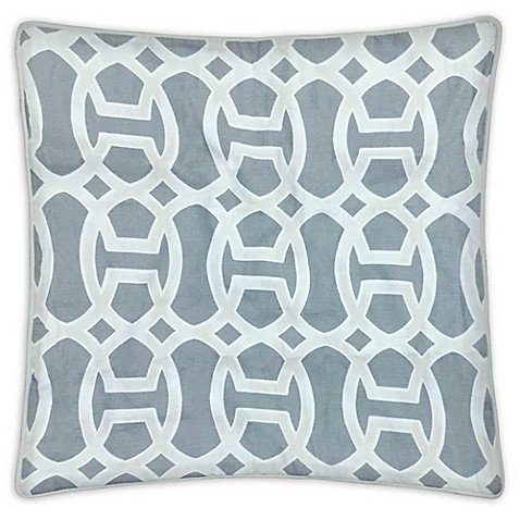 Gareth Square Throw Pillow in Grey (Set of 2) - Bed Bath & Beyond