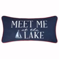 """Preston """"Meet Me at the Lake"""" Oblong Throw Pillow"""