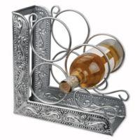 Old Dutch International Embossed Antique Victoria 3-Bottle Bookend Wine Rack