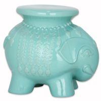 Safavieh Elephant Garden Stool in Robin's Egg Blue