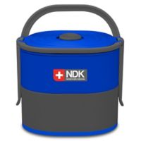 NDK Double Decker 57 oz. Food Container in Grey