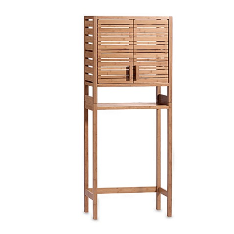 Bamboo Over The Toilet Space Saver with Two Doors - Bed