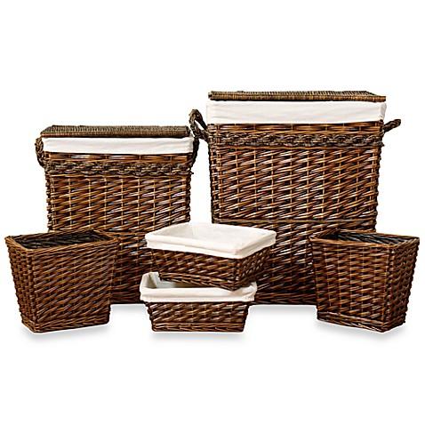 Weston 6 piece hamper and storage baskets set