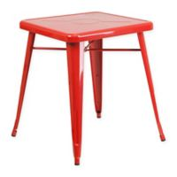 Flash Furniture 27.75-Inch Square Metal Indoor/Outdoor Table in Red