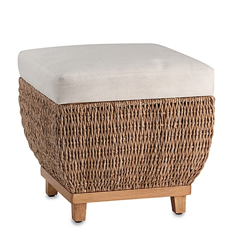 Seagrass Storage Bench With Cushion