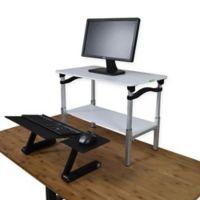 LIFT Standing Desk Conversion Kit in White