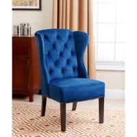 Abbyson Living® Sierra Wingback Dining Chair in Navy