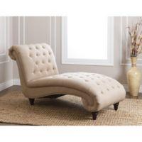 Abbyson Living® Alessio Linen Chaise in Beige