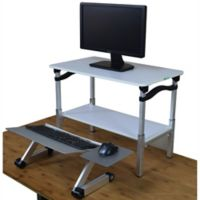 LIFT Standing Desk Conversion Kit in White/ Silver