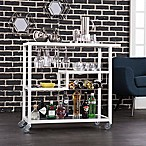Southern Enterprises Holly & Martin Zephys Bar Cart in White