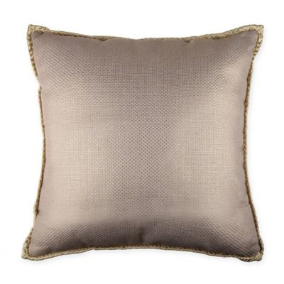 foil printed square throw pillow in gold - Gold Decorative Pillows
