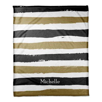 striped blanket in blackgold