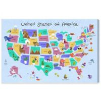 Olivia's Easel 45-Inch x 30-Inch Fun Map II Canvas Wall Art