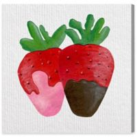 Olivia's Easel 16-Inch x 16-Inch Strawberry Sweets Canvas Wall Art