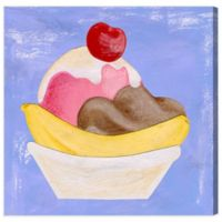Olivia's Easel Banana Split 16-Inch x 16-Inch Canvas Wall Art
