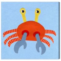 Olivia's Easel 16-Inch x 16-Inch Crab Canvas Wall Art