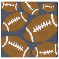 Olivia's Easel 16-Inch x 16-Inch Football Canvas Wall Art