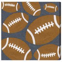 Olivia's Easel 16-Inch x 16-Inch Football Canvas Wall Art