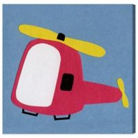 Olivia's Easel 16-Inch x 16-Inch Helicopter Canvas Wall Art
