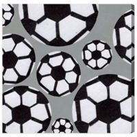 Olivia's Easel 16-Inch x 16-Inch Soccer Canvas Wall Art