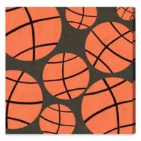 Olivia's Easel Basketball 16-Inch x 16-Inch Canvas Wall Art