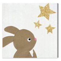 Olivia's Easel 16-Inch x 16-Inch Bunny & Stars Wall Art