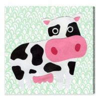 Olivia's Easel Cow Fields 16-Inch x 16-Inch Canvas Wall Art