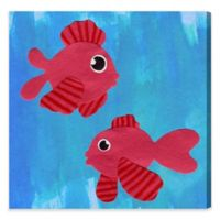 Olivia's Easel 16-Inch x 16-Inch Beta Fish Wall Art