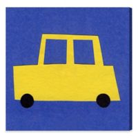 Olivia Easel 16-Inch x 16-Inch Yellow Car Canvas Wall Art