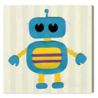 Olivia's Easel Robot 16-Inch x 16-Inch Canvas Wall Art