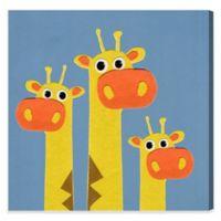 Olivia's Easel Giraffe 16-Inch x 16-Inch Canvas Wall Art