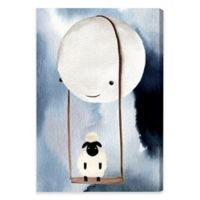 Moon Swing 20-Inch x 30-Inch Canvas Wall Art