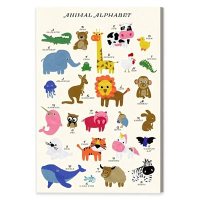 Buy Animal Alphabet Canvas Wall Art from Bed Bath & Beyond