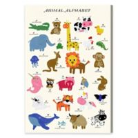 Animal Alphabet 30-Inch x 45-Inch Canvas Wall Art