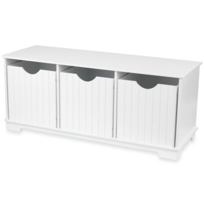 Buy White Storage Bench Seat From Bed Bath Beyond