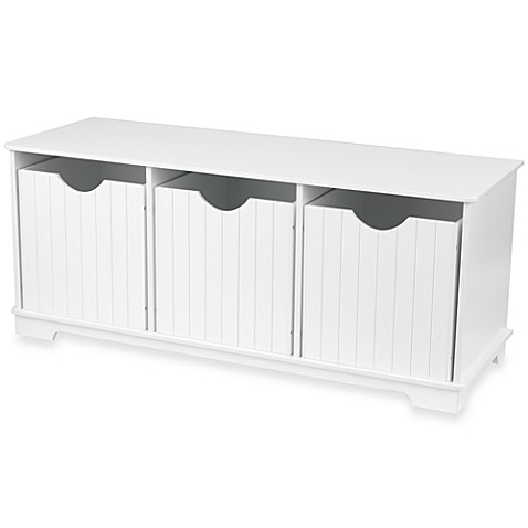 KidkraftR Nantucket White Storage Bench