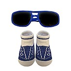 So'Dorable Sunglasses and Sneaker Booties Set in Royal