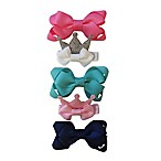 So'dorable 5-Pack Crown Hair Clips in Pink/Navy/Aqua/White