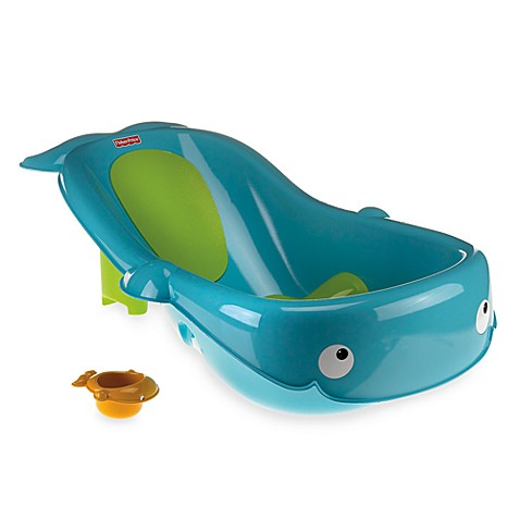 fisher price precious planet whale of a tub newborn to toddler bath tub buybuy baby. Black Bedroom Furniture Sets. Home Design Ideas